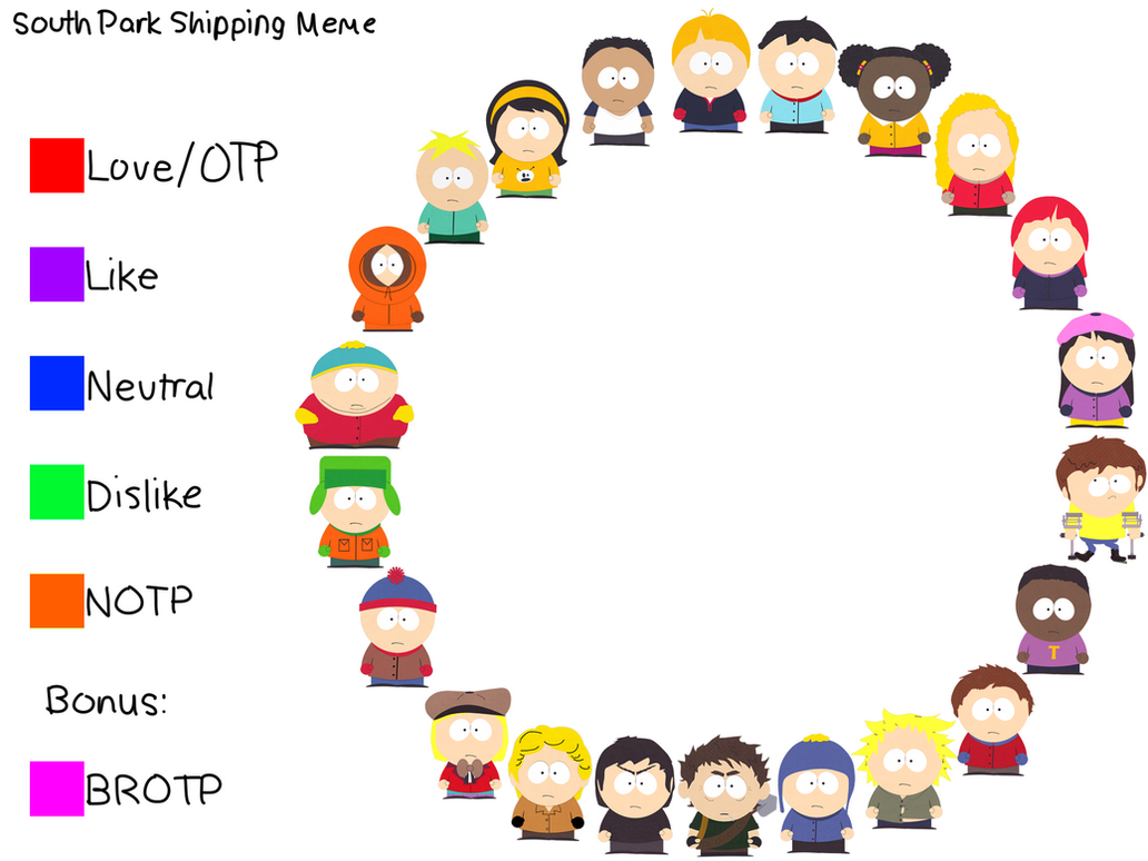 south park shipping meme by clyde2 on deviantart