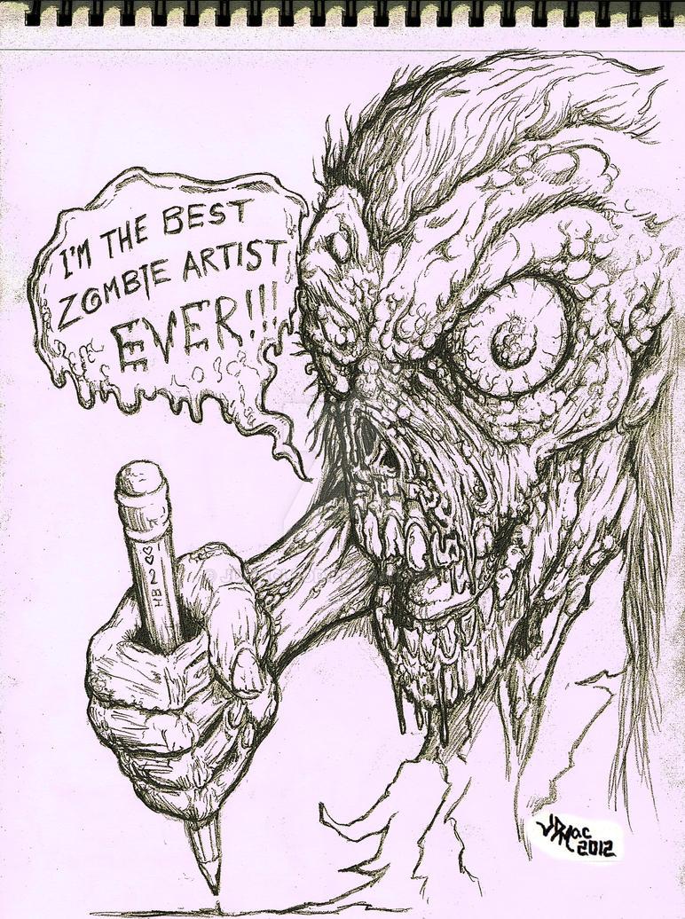 Zombie artist pencil sketch by jdmacleod
