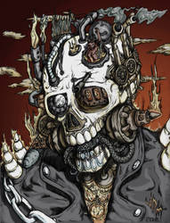 Mephisto's Steam Punk Ghost Rider: Colour by jdmacleod