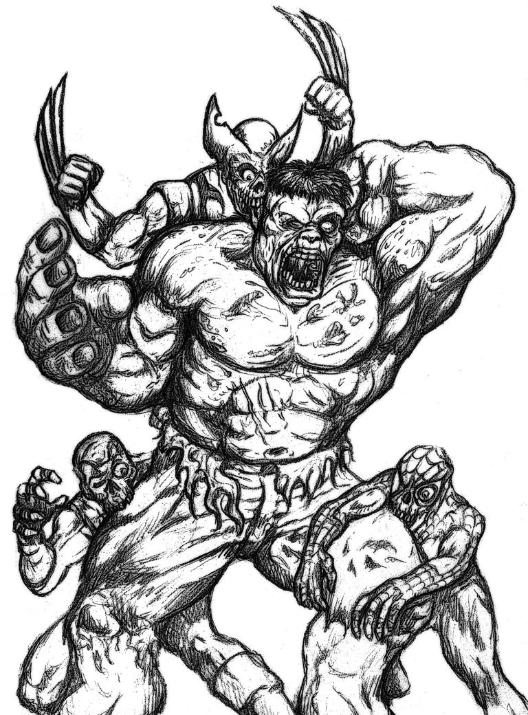Marvle Zombies - Free Coloring Pages