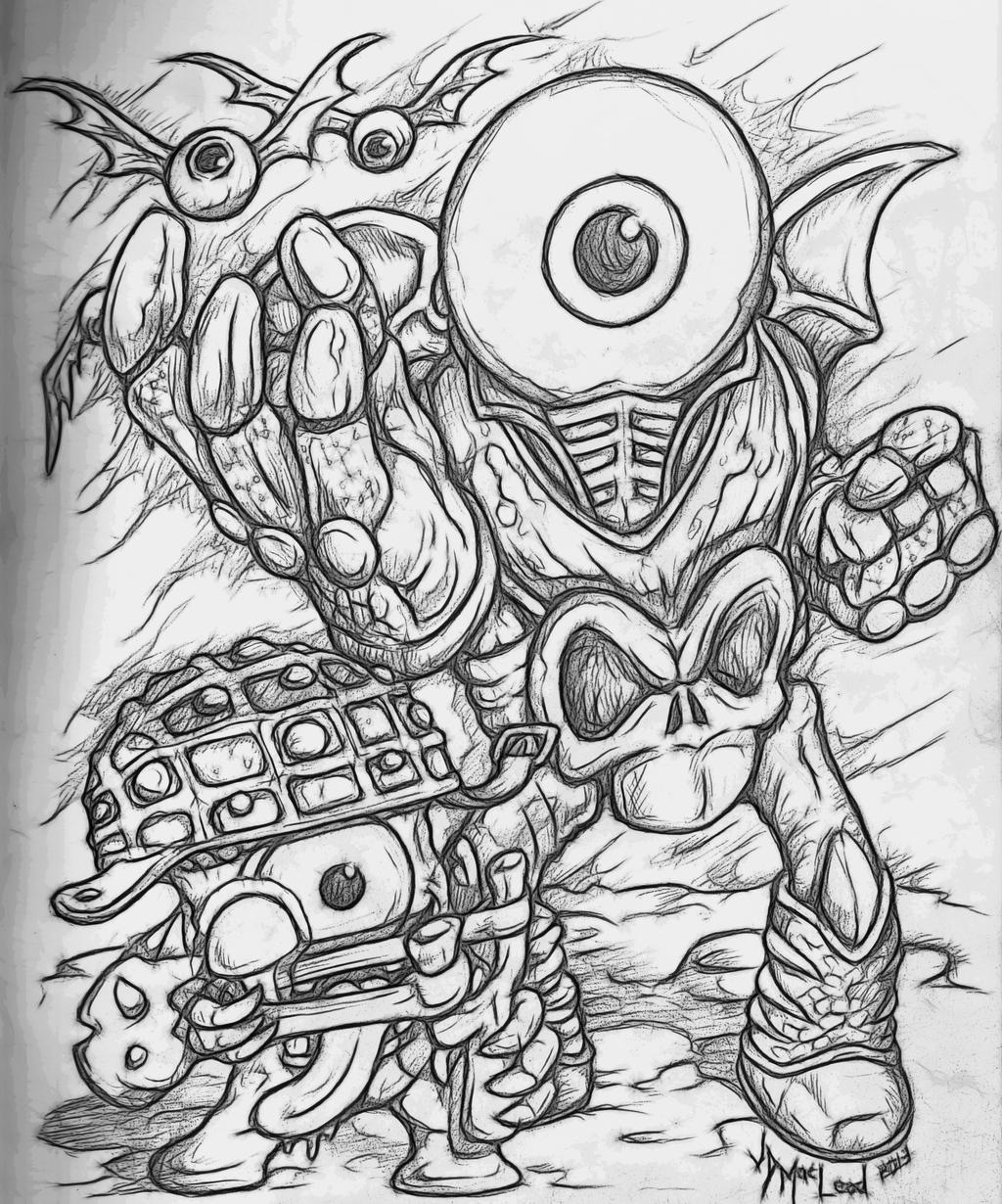 Not eyebrawl free colouring pages for Skylanders giants coloring pages eye brawl
