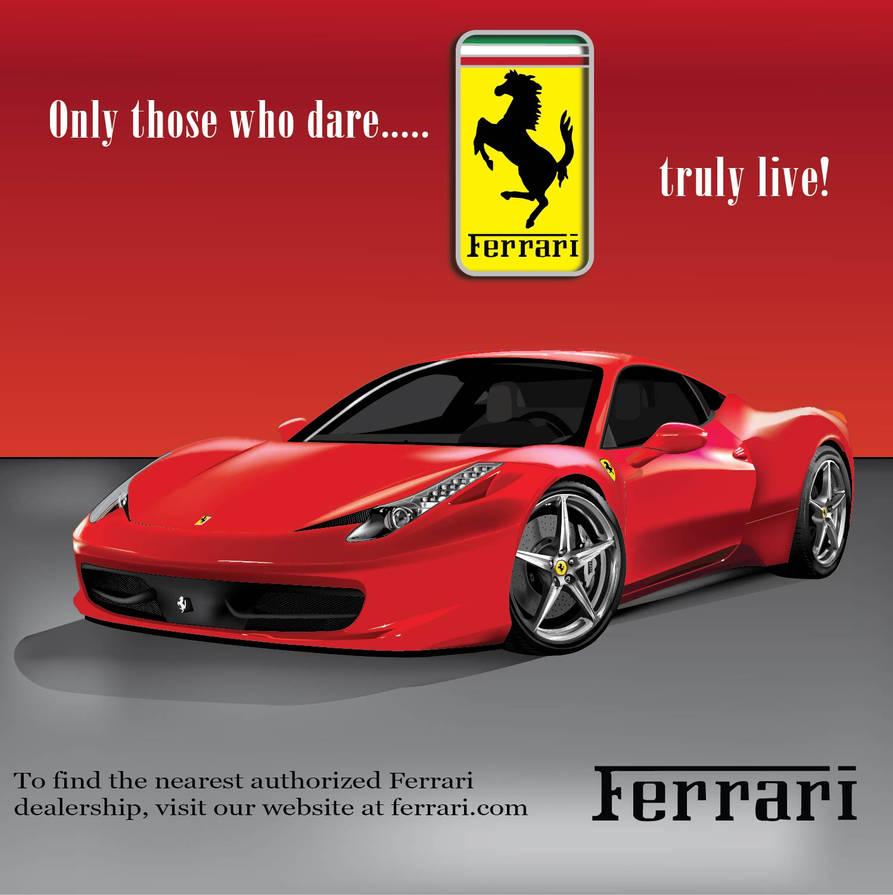 Ferrari Ad By Adobian On Deviantart