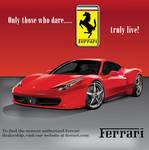 Ferrari ad by Adobian