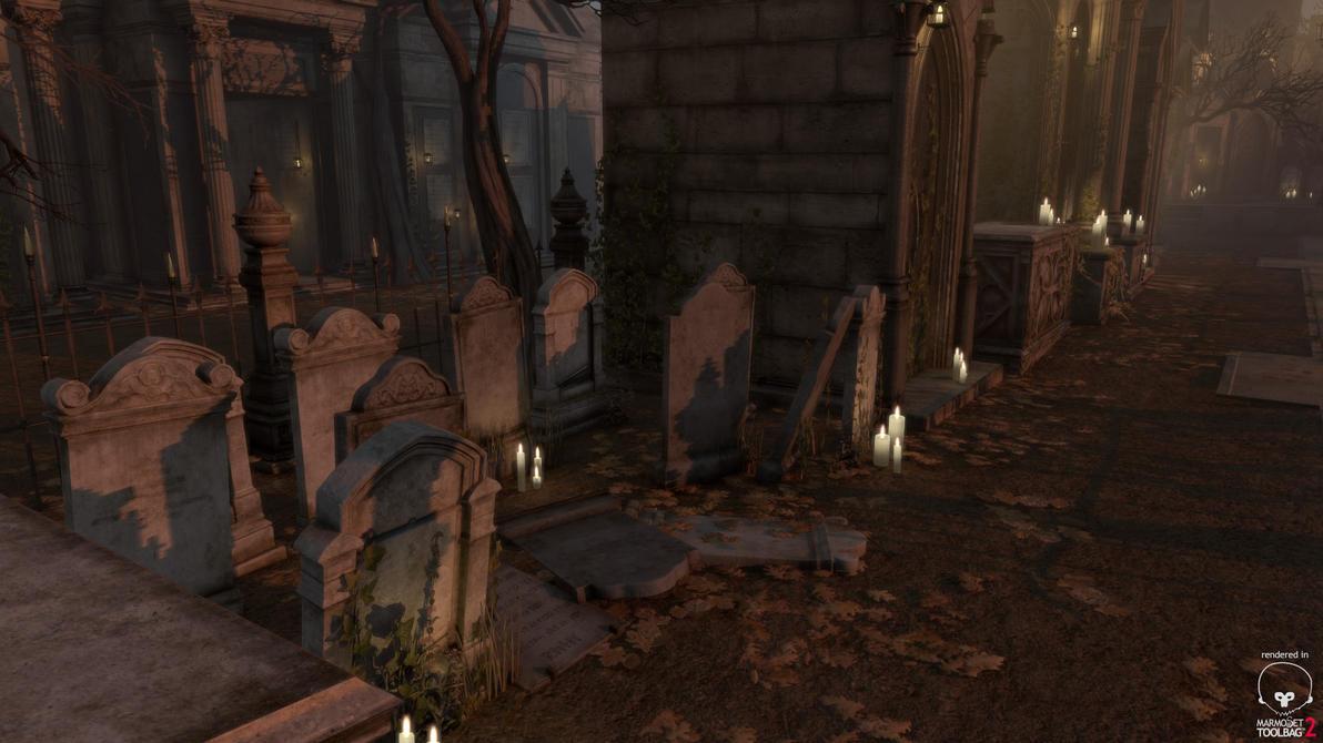 Gothic Cemetery Kit Tombstones by PixelMonger75