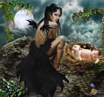 Fantasy mother child a mother's love