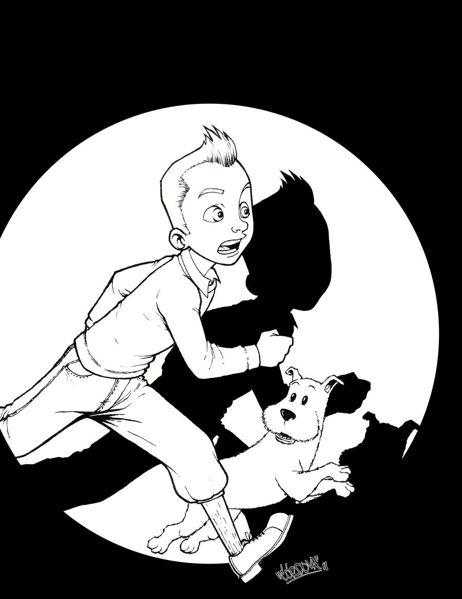 tintin by renecordova on deviantart