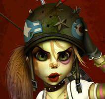 Tank Girl WIP by renecordova