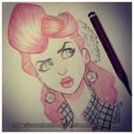 Suicide Girl sketch bust