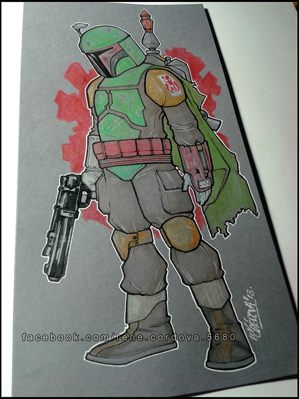 Boba Fett commission by renecordova