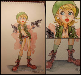 War girl watercolors