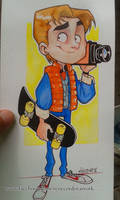 Marty Mcfly Watercolors