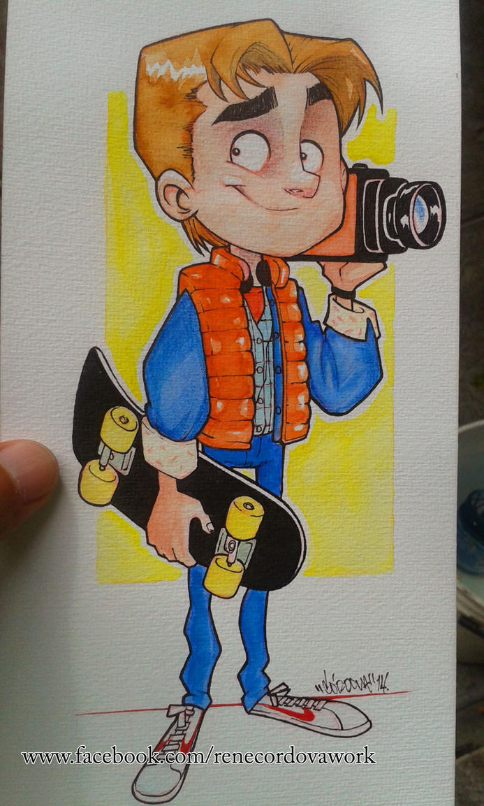 Marty Mcfly Watercolors by renecordova
