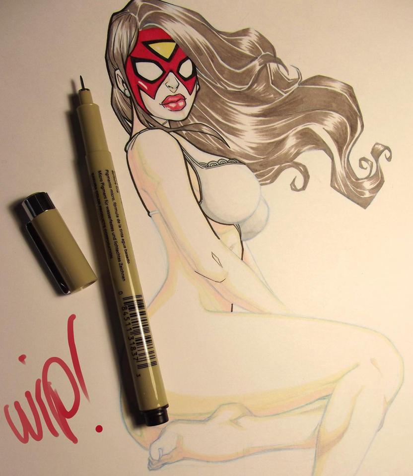 spider woman fanart by renecordova