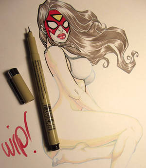 spider woman fanart