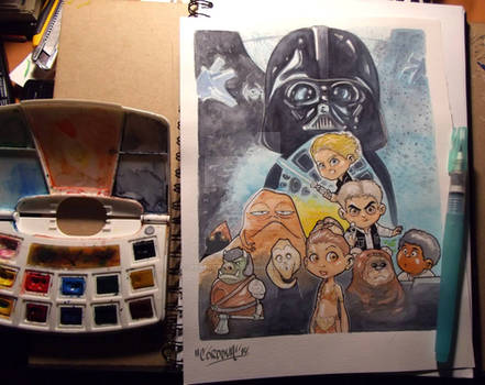Starwars watercolors commission