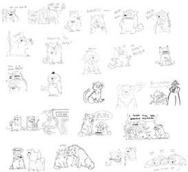Livestream doodles II by derpdawg