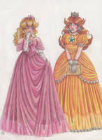 AT: Princess Peach and Princess Daisy by Renata-Greynoria