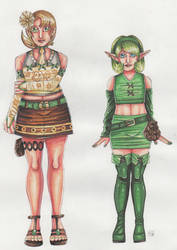 Ilia and Saria by Renata-Greynoria