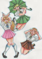 Zelda, Saria and Ilia by Renata-Greynoria