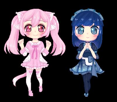C: Mia and Cynara by kashiyuki