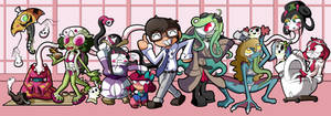 Yokai Series Main Cast by BLARGEN69