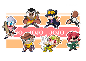 Jojo Part 3 Chibis - Sheet 1 by BLARGEN69