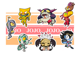 Jojo Part 3 Chibis - Sheet 2
