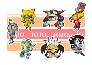 Jojo Part 3 Chibis - Sheet 2 by BLARGEN69
