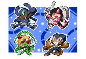 Freedom Flyers Chibis by BLARGEN69