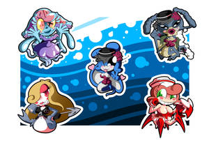 Mermaid Chibi Stickers Set by BLARGEN69