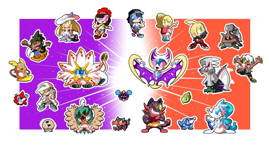 Pokemon Alola Sticker Set! (1 of 3) by BLARGEN69