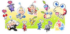 Pikmin Sticker Set!!