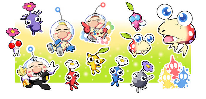 Pikmin Sticker Set!!