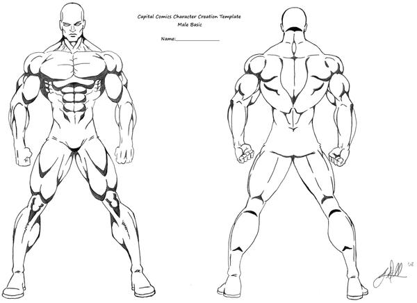Basic character template by gwdill on deviantart for Manga character template