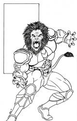 Lionman Art Trade for Daniel Howe by gwdill