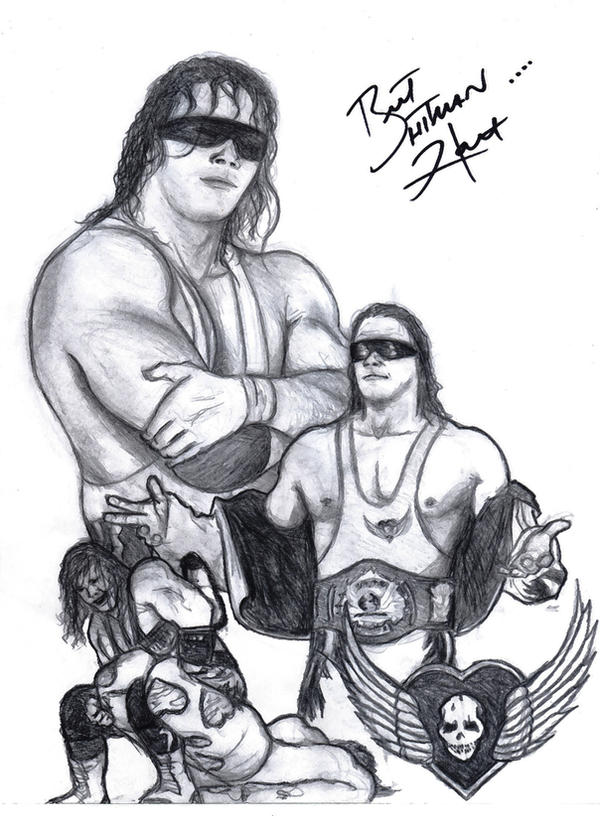 bret hart coloring pages - photo#26