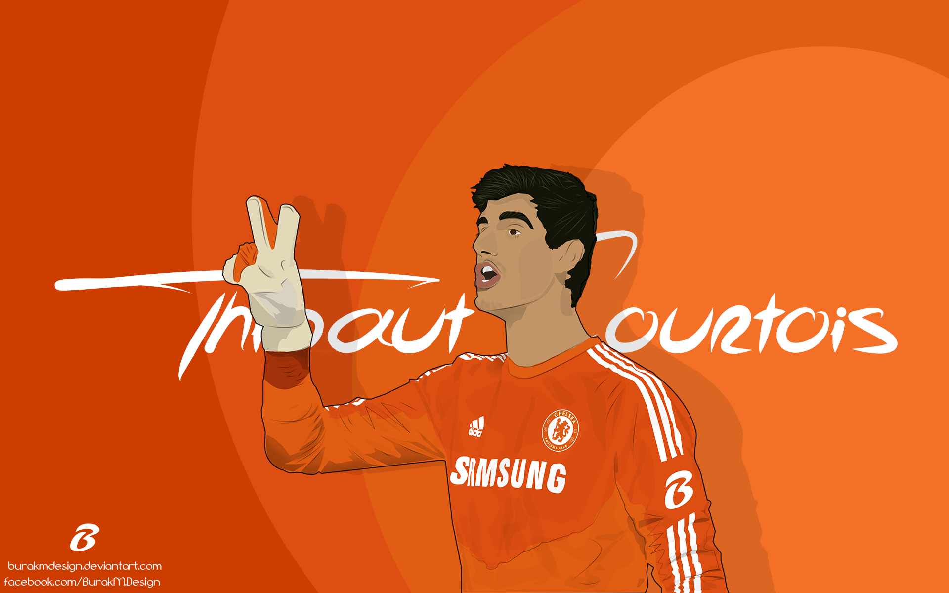 Thibaut Courtois Vector And Wallpaper By BurakMDesign On