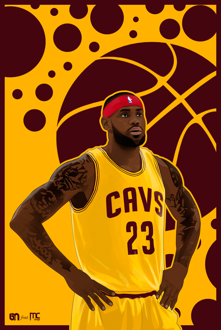 Lebron James Vector And Wallpaper By BurakMDesign