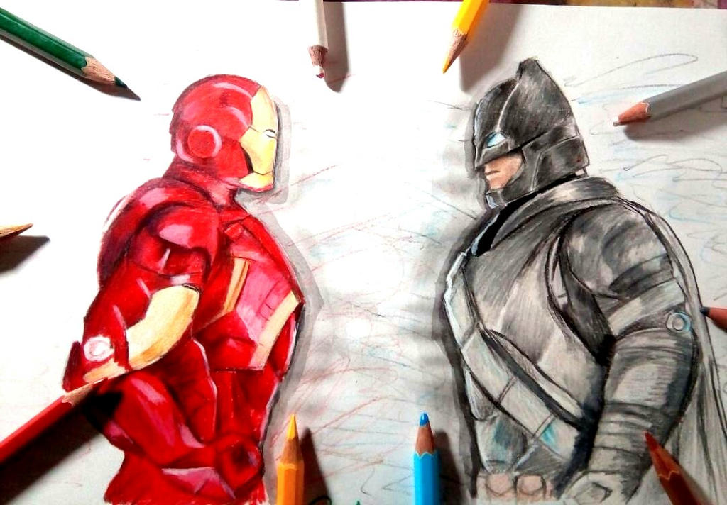 Iron man vs Bat-Man (Marvel vs DC) by Pranjalshrivastava