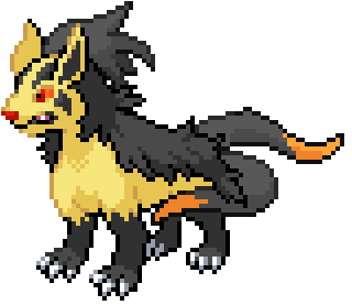 Ninetales and Mightyena fusion sprite by triple7s