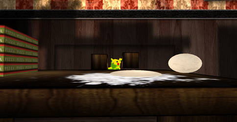 Pikachu's love for pizza by Weaselhatter