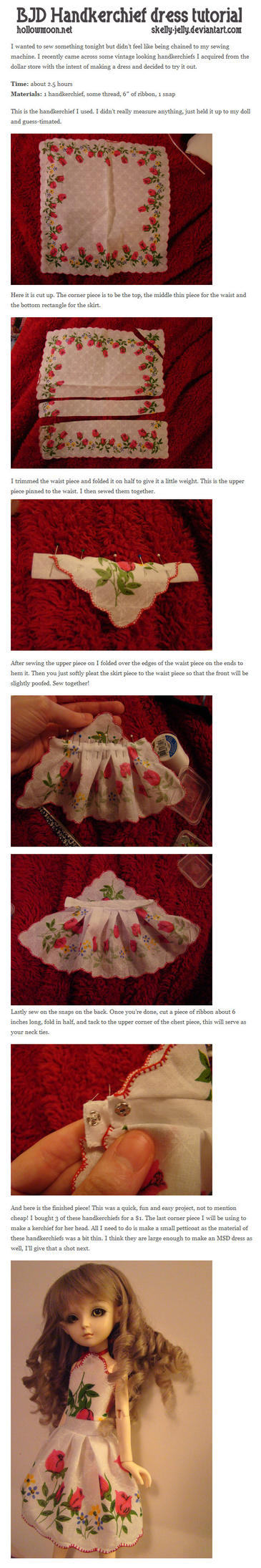BJD Handkerchief dress tutorial by skelly-jelly