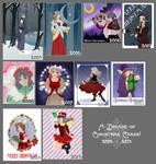 A decade of Christmas cards!