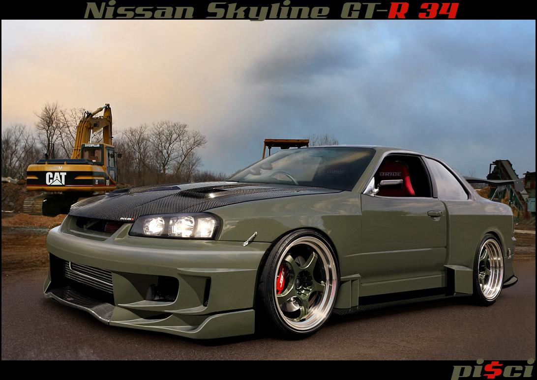Nissan Skyline GT-R 34 by Pisci