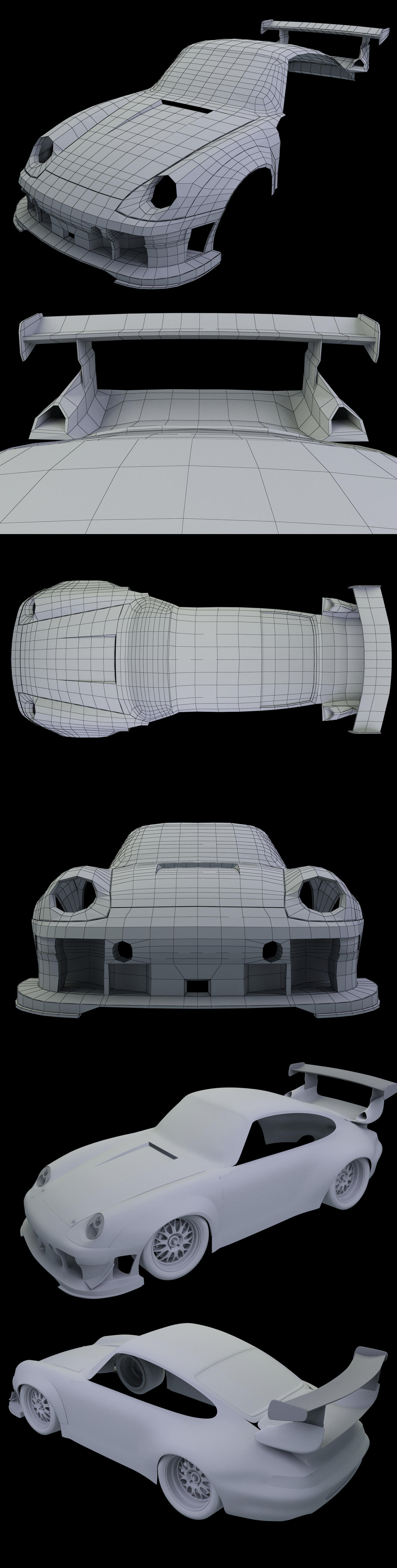 Porsch 993 911 GT2 Racer WIP04 by Pisci