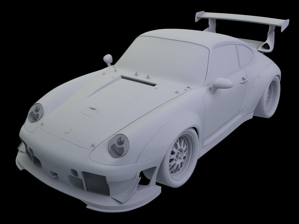 Porsch 993 911 GT2 Racer WIP09 by Pisci