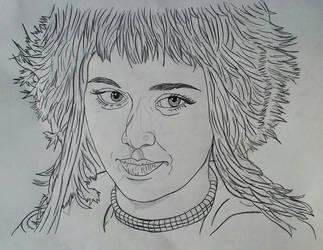 Ramona Flowers_Line Art Sketch Portrait by MetalHeadvega