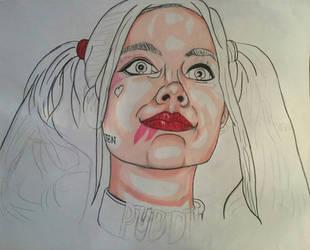 Harley_Suicide Squad Portrait (wip) by MetalHeadvega
