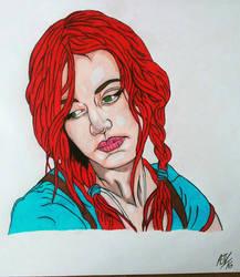Clementine Red Menace Portrait by MetalHeadvega