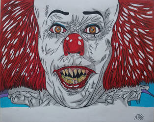 Pennywise the clown_It Portrait by MetalHeadvega